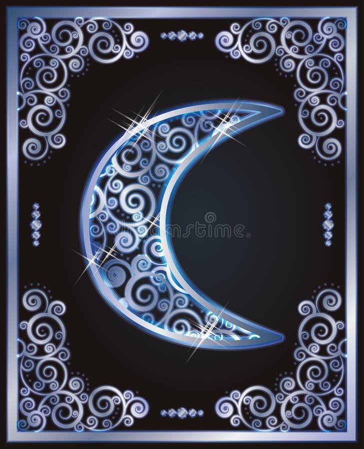 Religijnego symbolu islamska półksiężyc, wektor ilustracji