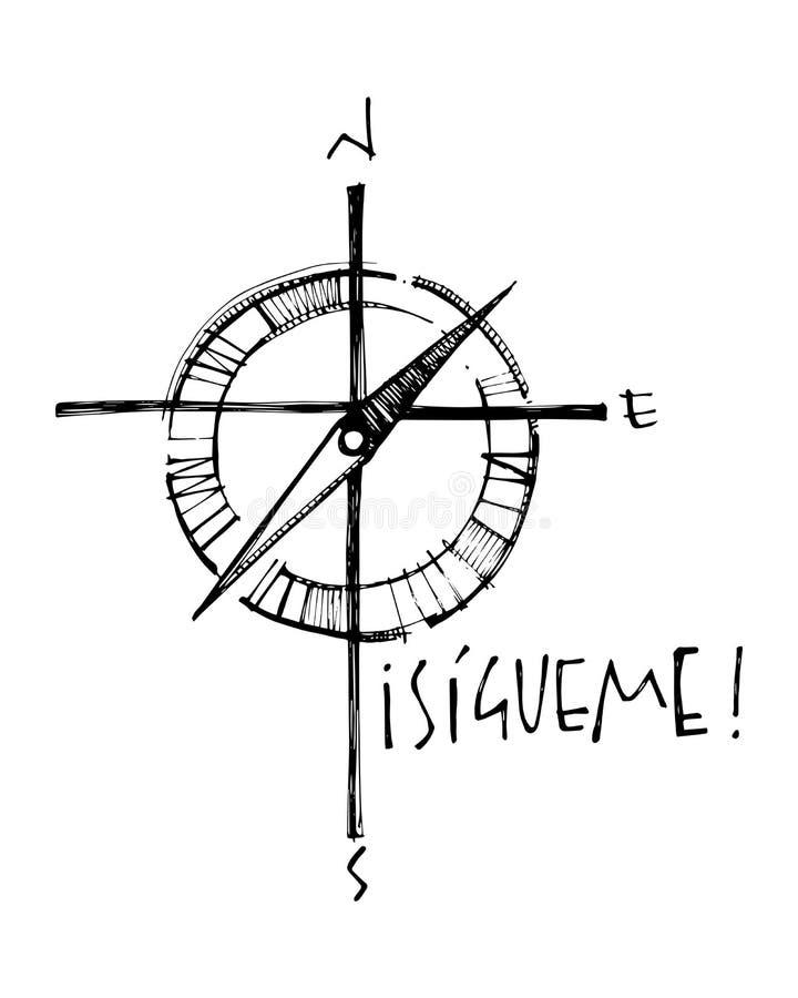 Religijny chrześcijanina krzyż z słowem ilustracja wektor