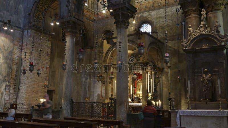 Religijny mozaika obraz na kopule St Marco Kościelny stażysta obrazy stock