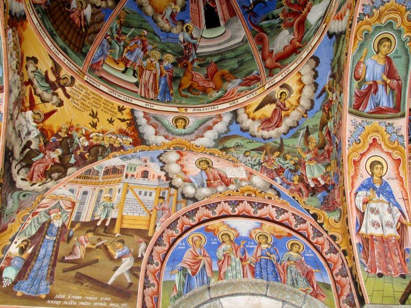 Religijny obraz w kościół zdjęcie stock