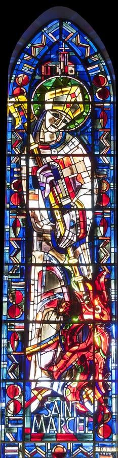 Religijny witrażu okno zdjęcie stock