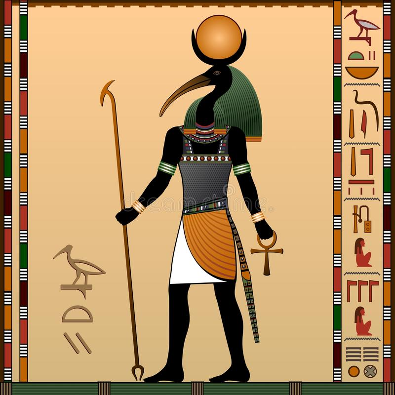 Religion Of Ancient Egypt Stock Vector Illustration Of Retro - Egypt religion