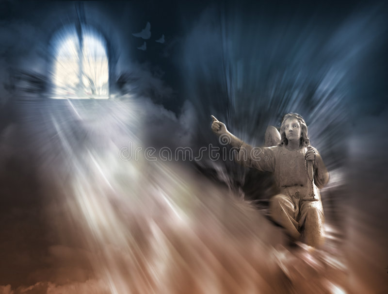 Download Religion - Angel And Heaven Stock Illustration - Illustration of heaven, consecrated: 162012