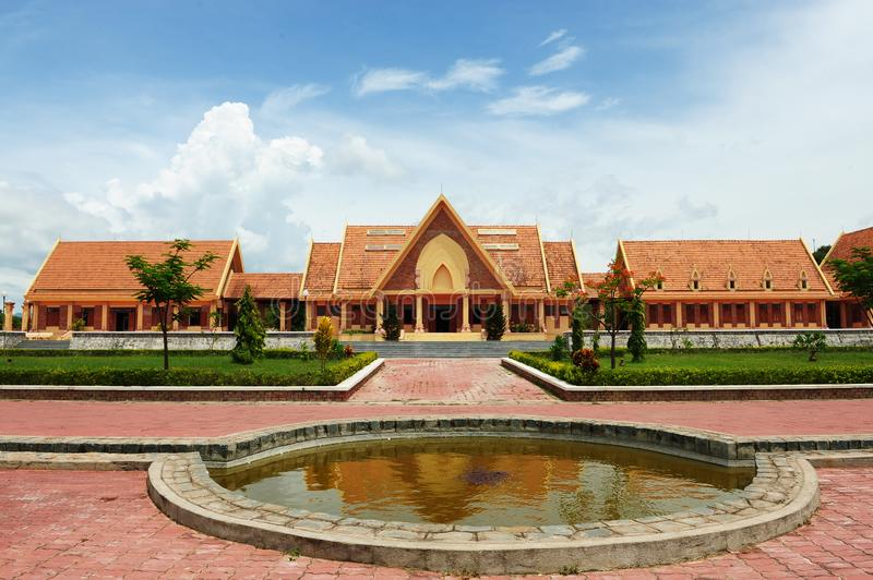 Traditional building with red clay tiles roofs. Religion building with red clay tiles roofs stock photos