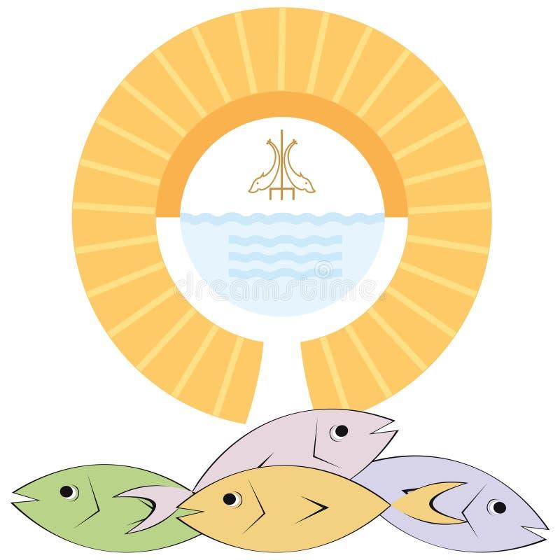 Religion chrétienne illustration de vecteur