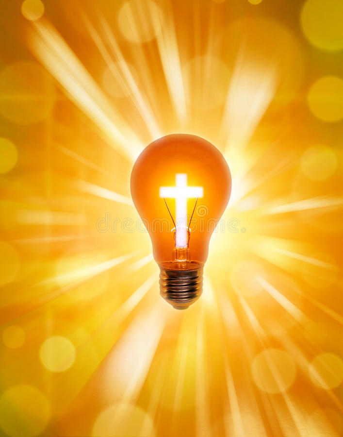 Download Religion Cross Light Bulb Christianity Stock Images - Image: 13180184