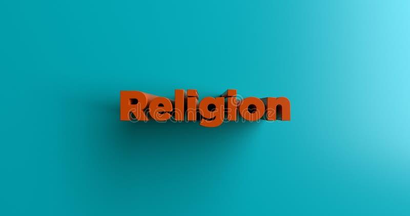 Religion - 3D übertrug bunte Schlagzeilenillustration lizenzfreie abbildung