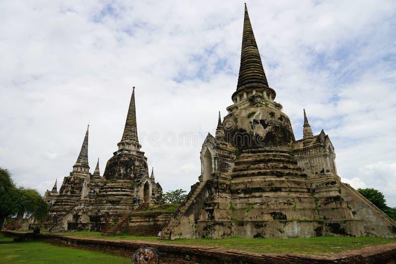 Religion de voyage de Bouddha de bouddhisme de temple d'Ayutthaya Thaïlande de ville images stock