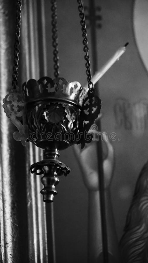 Religion faith creed lampada icon lamp Christianity royalty free stock photography