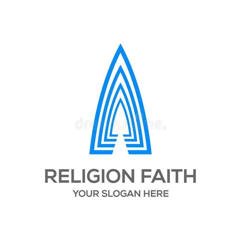 Religion faith logo design template stock illustration