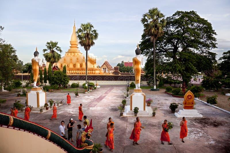 Religion i Vientiane arkivbild