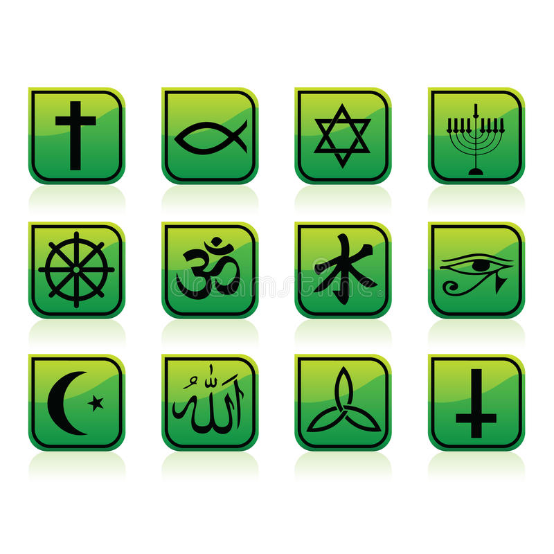 Download Religion Icons stock vector. Image of christ, confucianism - 16463850
