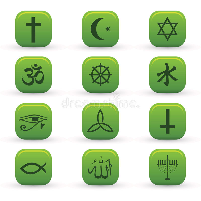 Download Religion Icons stock vector. Image of calligraphic, buddhist - 21523198