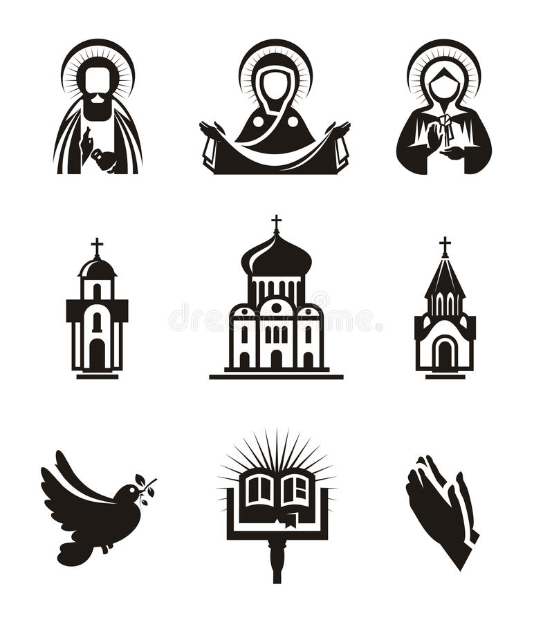 Religion icons royalty free illustration