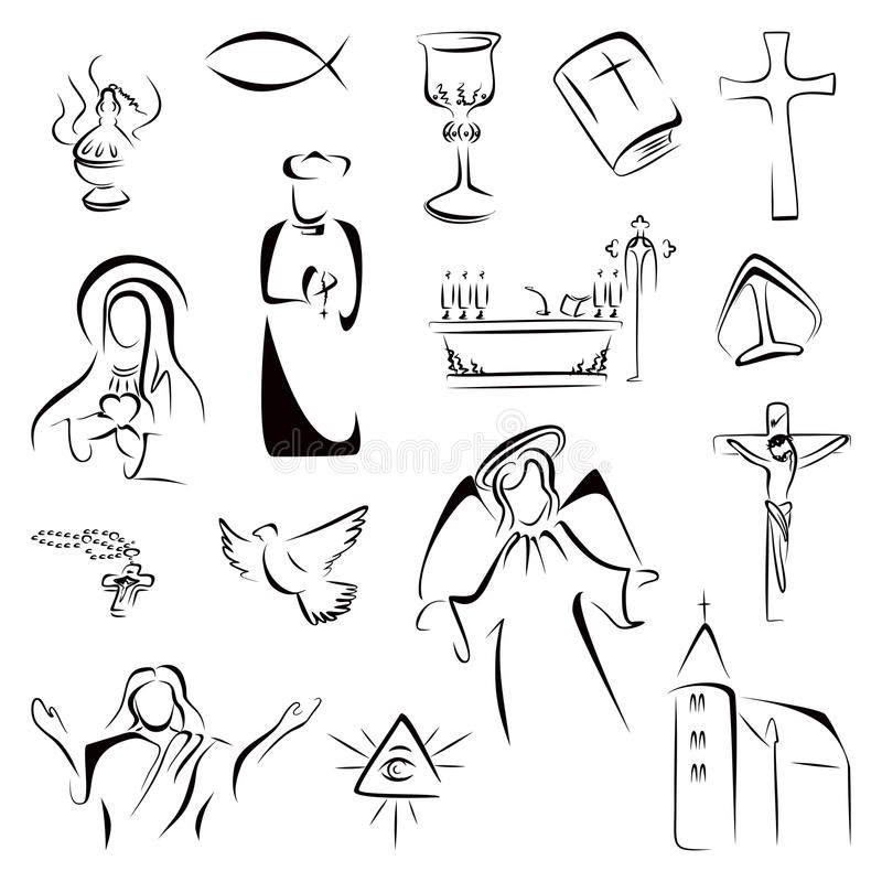 Religion Icons Stock Vector Illustration Of Ichthys 41089517