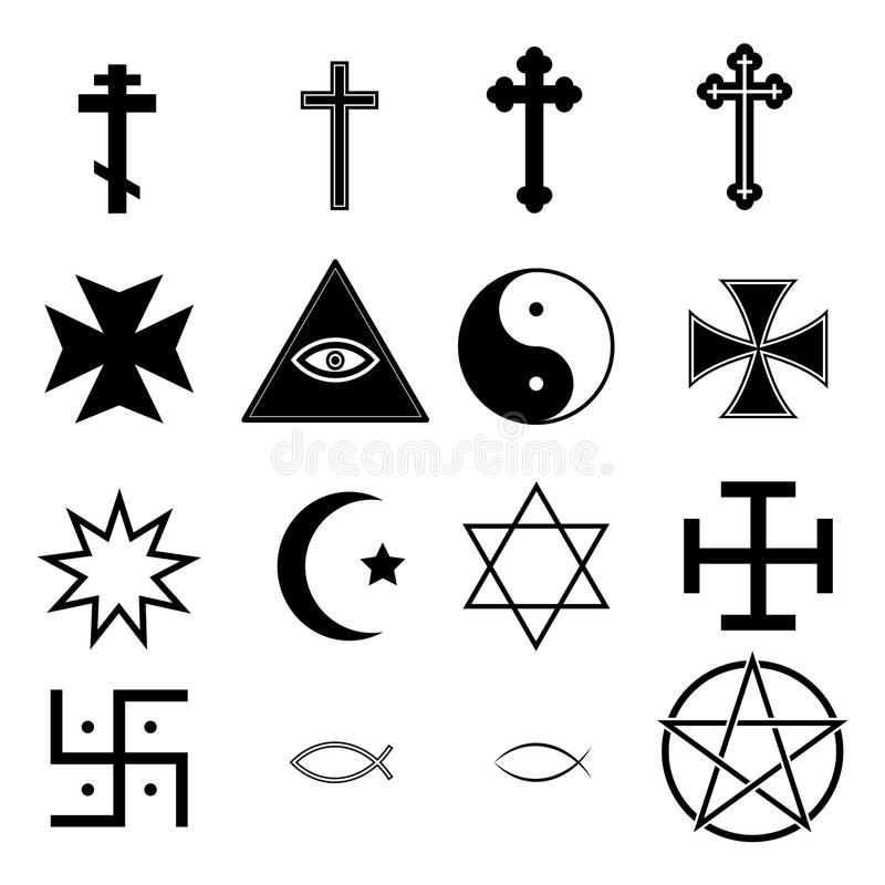 Religion Icons. Illustration set stock illustration