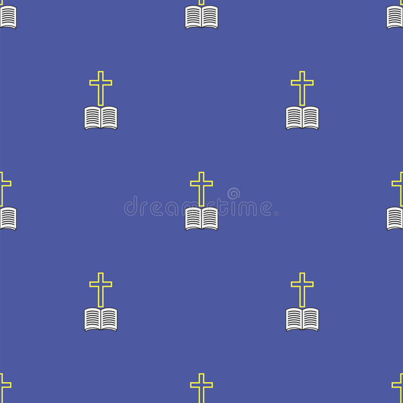 Religion Icons Seamless Pattern royalty free illustration