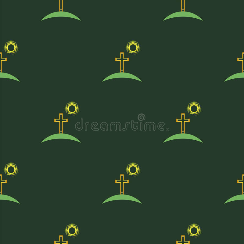 Religion Icons Seamless Pattern vector illustration