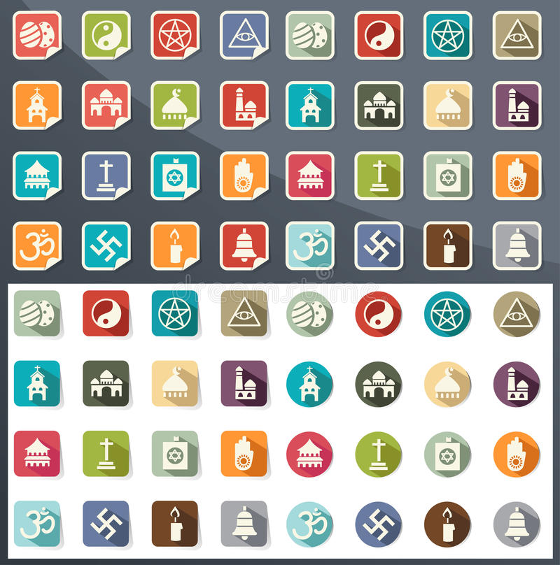 Religion icons vector vector illustration