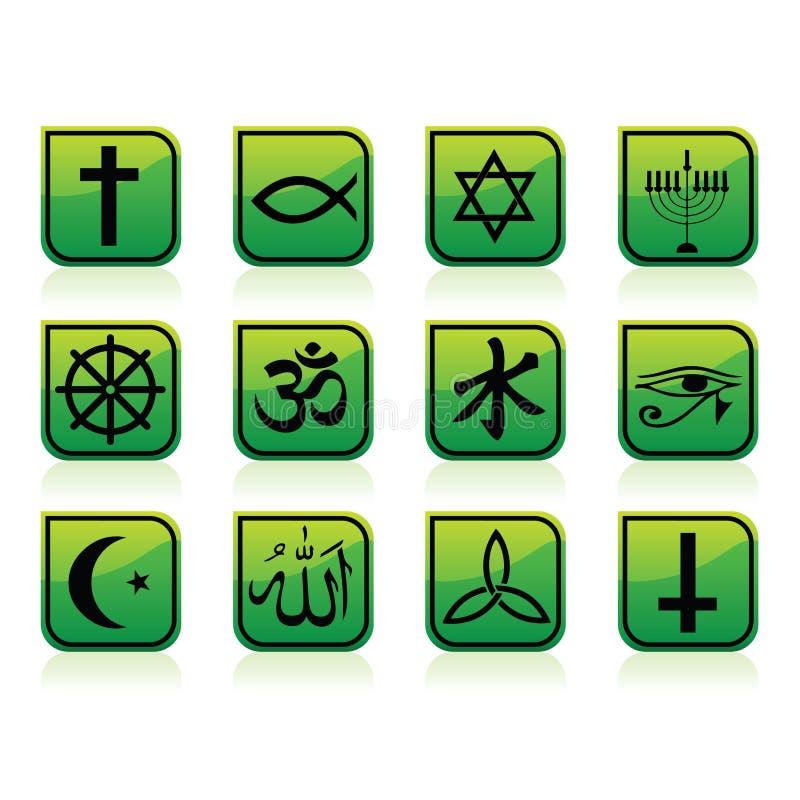 Religion-Ikonen lizenzfreie abbildung