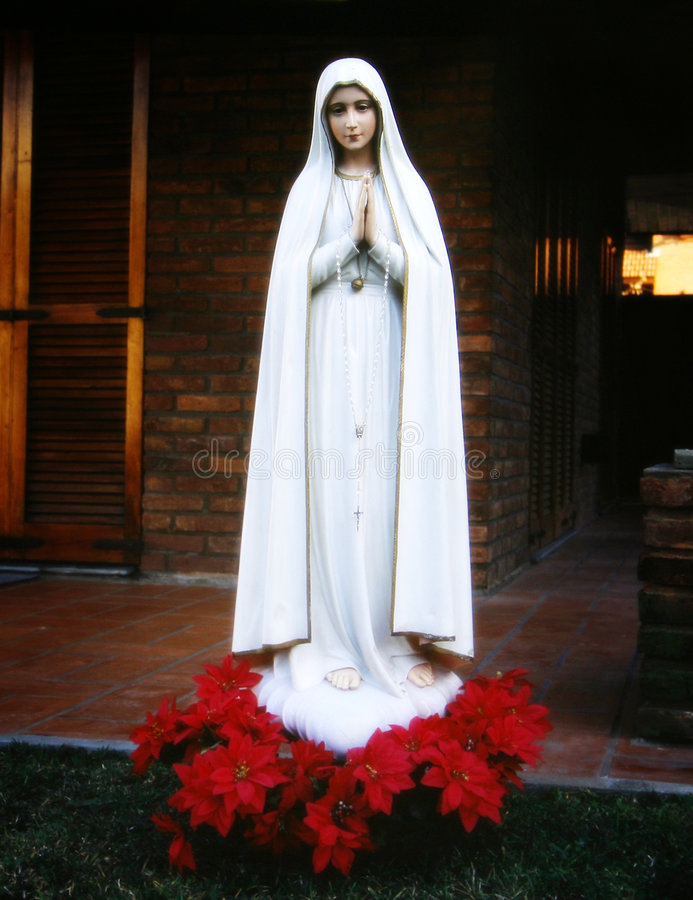 Religion, image of Mary virgin stock images
