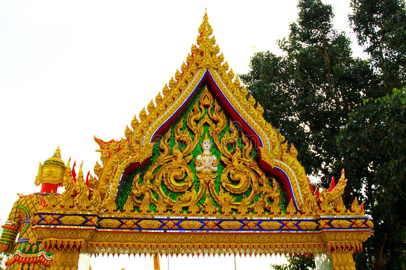 Religion local architecture Thai Temple gate stock photography