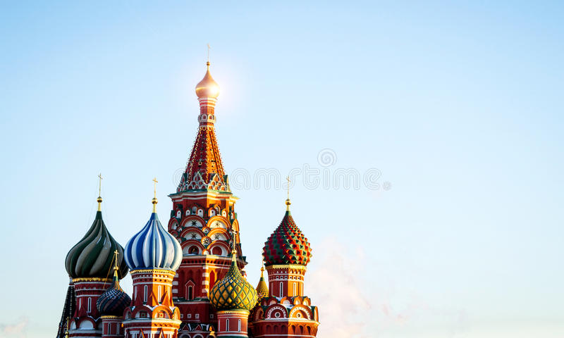 Religion orthodoxe d'église russe de ville de Moscou photographie stock