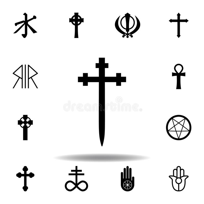 Religion symbol, Aaronic order church icon. Element of religion symbol illustration. Signs and symbols icon can be used for web,. Logo, mobile app, UI, UX on royalty free illustration
