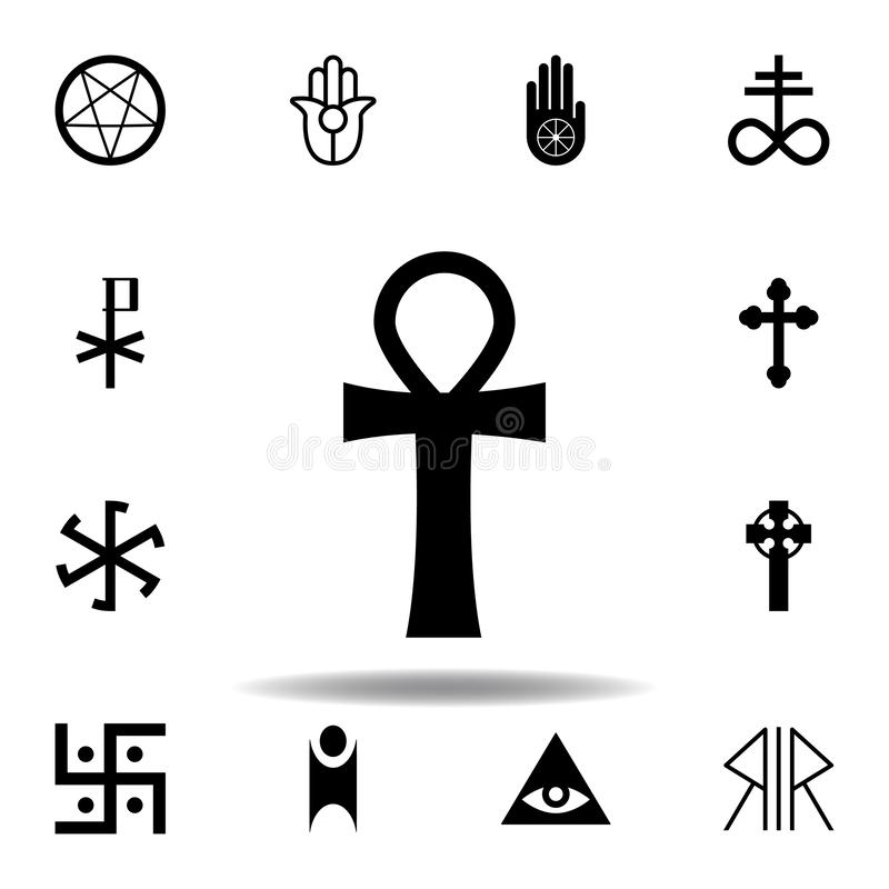 Religion symbol, ankh icon. Element of religion symbol illustration. Signs and symbols icon can be used for web, logo, mobile app. UI, UX on white background vector illustration