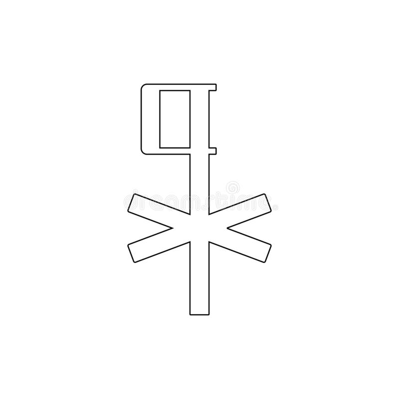 Religion symbol, chi rho outline icon. Element of religion symbol illustration. Signs and symbols icon can be used for web, logo, royalty free illustration