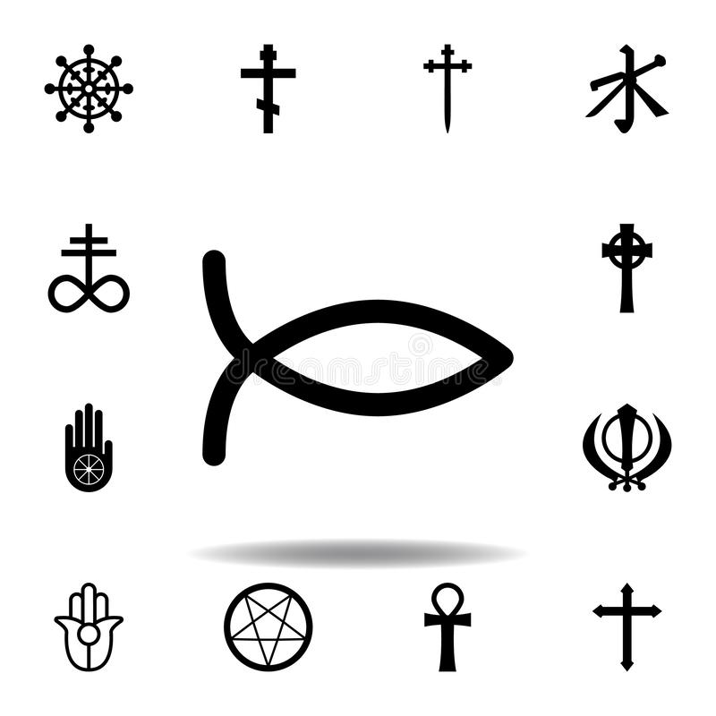 Religion symbol, Christianity icon. Element of religion symbol illustration. Signs and symbols icon can be used for web, logo,. Mobile app, UI, UX on white stock illustration
