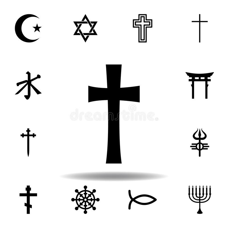 Religion symbol, cross icon. Element of religion symbol illustration. Signs and symbols icon can be used for web, logo, mobile app. UI, UX on white background vector illustration