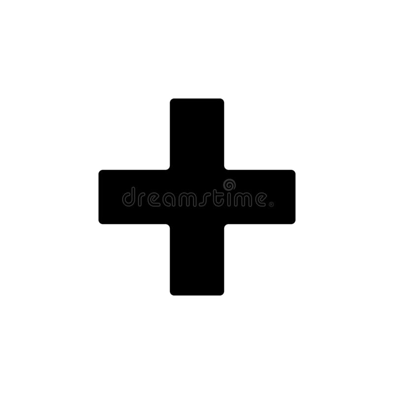 Religion symbol, Greek cross icon. Element of religion symbol illustration. Signs and symbols icon can be used for web, logo,. Mobile app, UI, UX on white vector illustration
