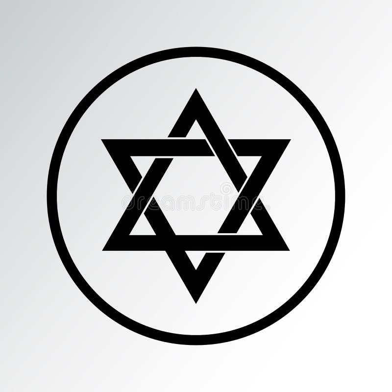 Religion symbol icon. Judaism. Vector illustration. Religion symbol icon isolated. Judaism. Vector illustration royalty free illustration