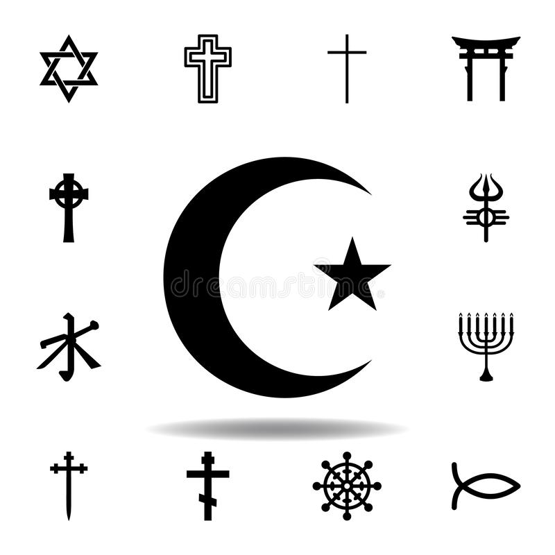 Religion symbol, Islam icon. Element of religion symbol illustration. Signs and symbols icon can be used for web, logo, mobile app. UI, UX on white background vector illustration
