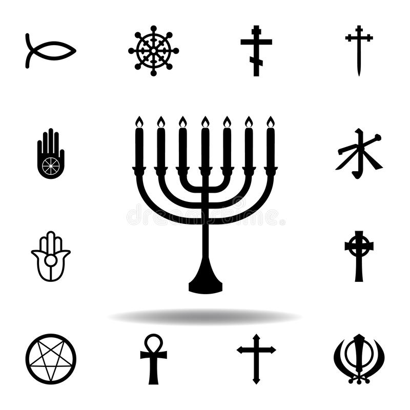 Religion symbol, Judaism icon. Element of religion symbol illustration. Signs and symbols icon can be used for web, logo, mobile. App, UI, UX on white stock illustration