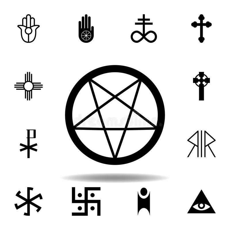 Religion symbol, occultism icon. Element of religion symbol illustration. Signs and symbols icon can be used for web, logo, mobile. App, UI, UX on white vector illustration
