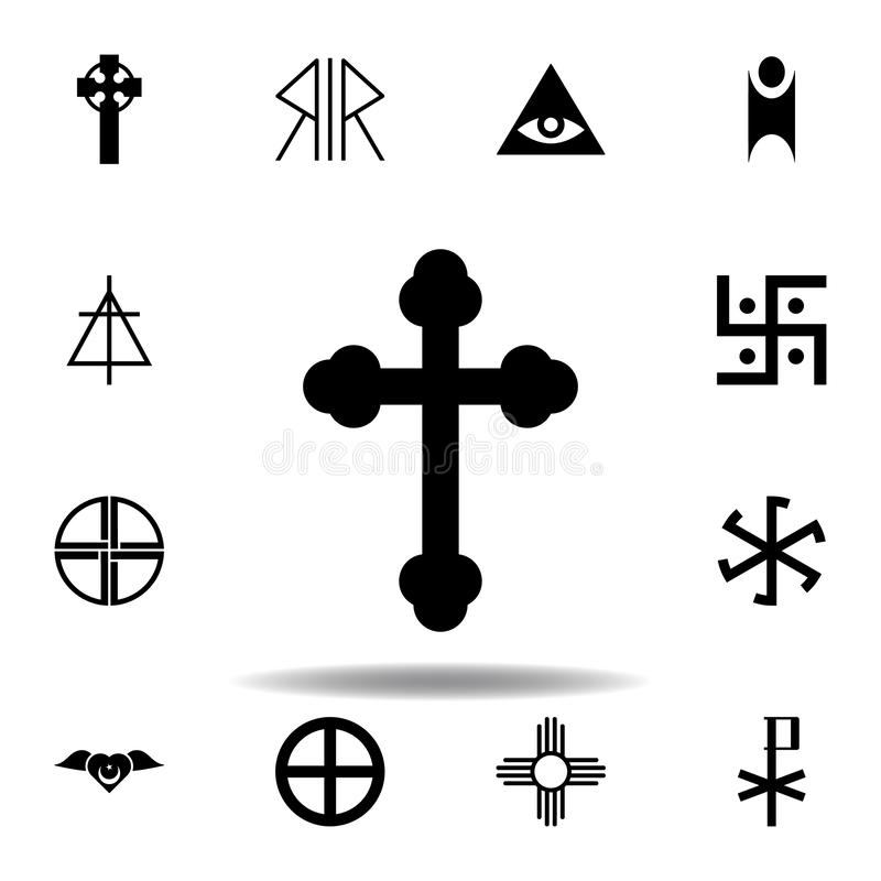 Religion symbol, orthodox icon. Element of religion symbol illustration. Signs and symbols icon can be used for web, logo, mobile. App, UI, UX on white stock illustration