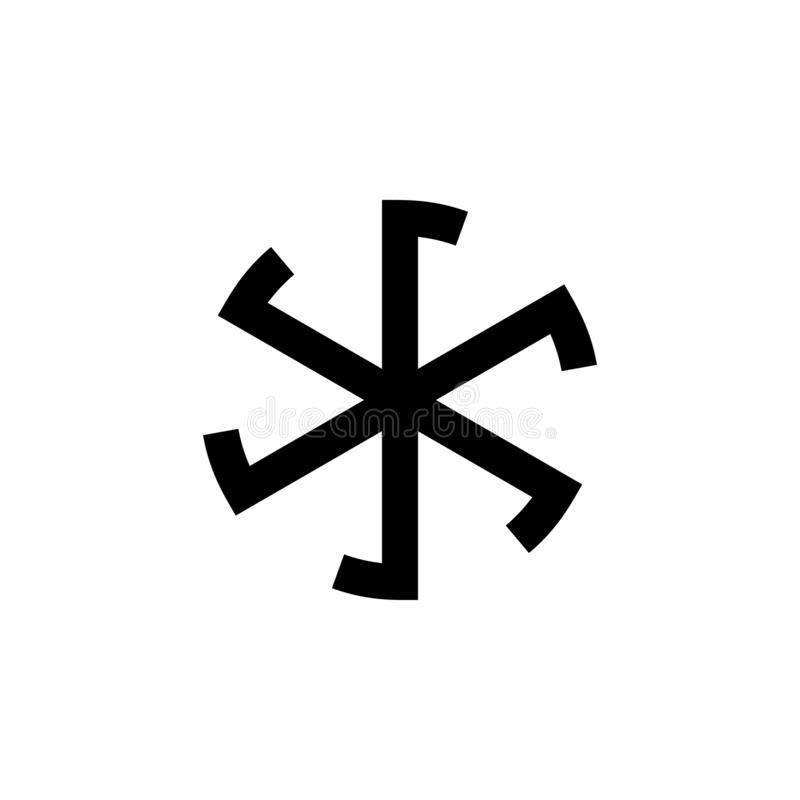 Religion symbol, paganism icon. Element of religion symbol illustration. Signs and symbols icon can be used for web, logo, mobile. App, UI, UX on white stock illustration