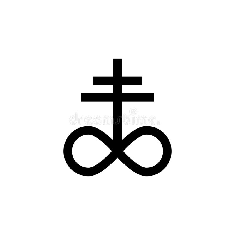Religion symbol, satanic church icon. Element of religion symbol illustration. Signs and symbols icon can be used for web, logo,. Mobile app, UI, UX on white vector illustration
