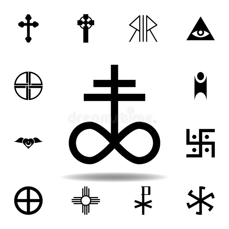 Religion symbol, satanic church icon. Element of religion symbol illustration. Signs and symbols icon can be used for web, logo,. Mobile app, UI, UX on white stock illustration
