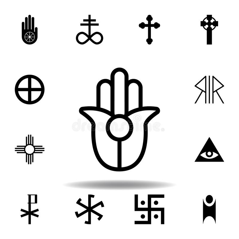 Religion symbol, Semitic, Neopaganism icon. Element of religion symbol illustration. Signs and symbols icon can be used for web,. Logo, mobile app, UI, UX on stock illustration