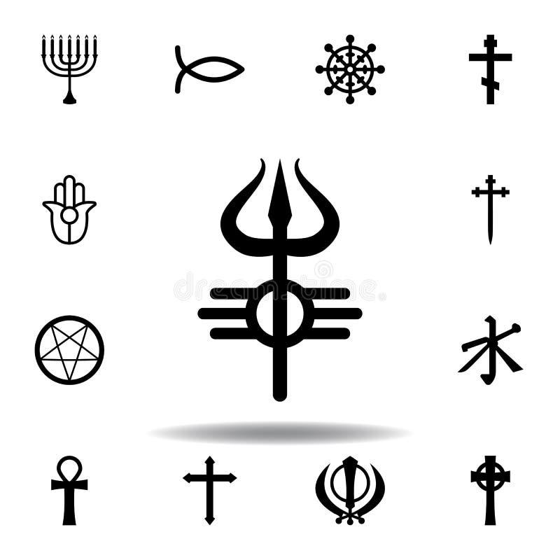 Religion symbol, Shiva icon. Element of religion symbol illustration. Signs and symbols icon can be used for web, logo, mobile app. UI, UX on white background royalty free illustration