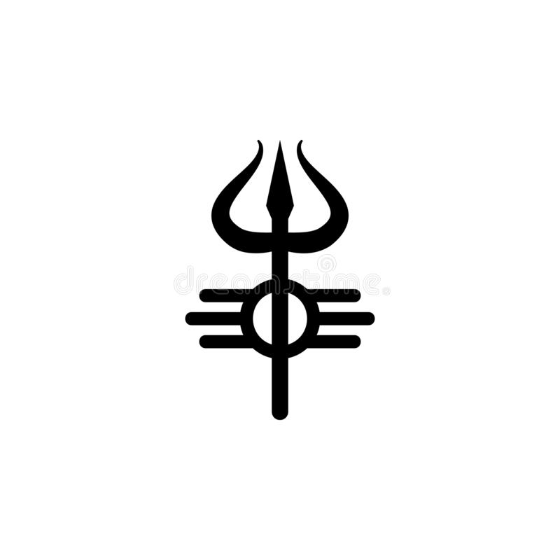 Religion symbol, Shiva icon. Element of religion symbol illustration. Signs and symbols icon can be used for web, logo, mobile app. UI, UX on white background stock illustration
