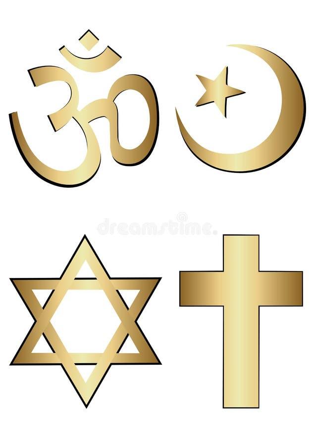 Religion symbols royalty free illustration