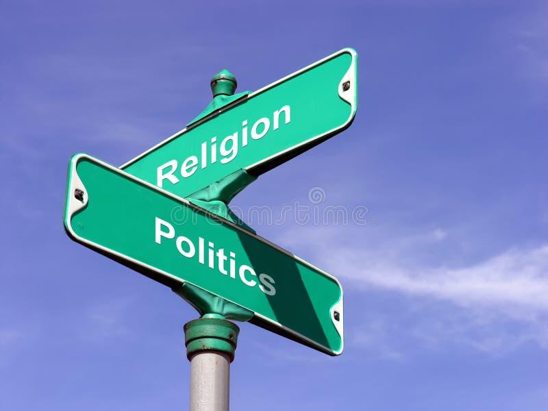 Religion VS Politics royalty free stock photography