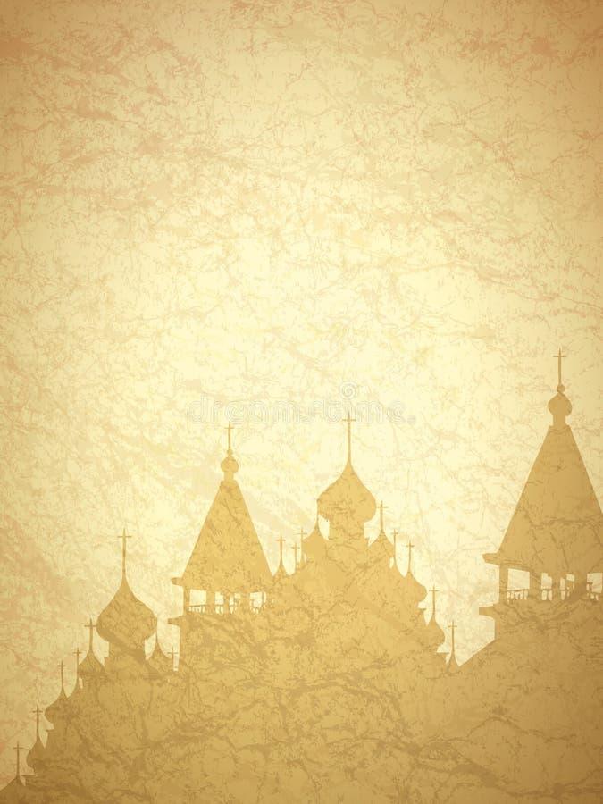 Religion-Weinlese-Hintergrund stock abbildung