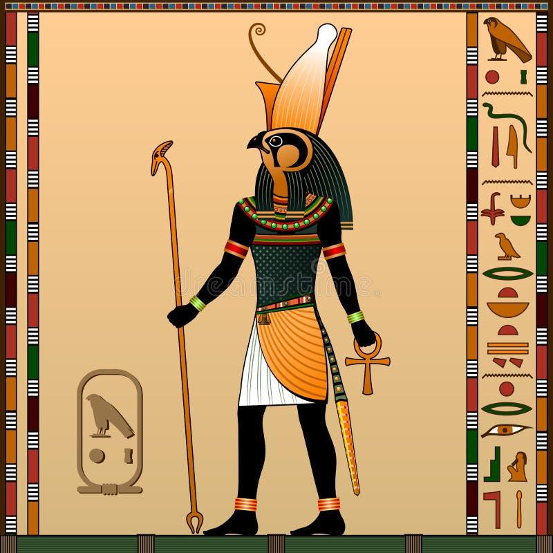 Religione dell'egitto antico royalty illustrazione gratis