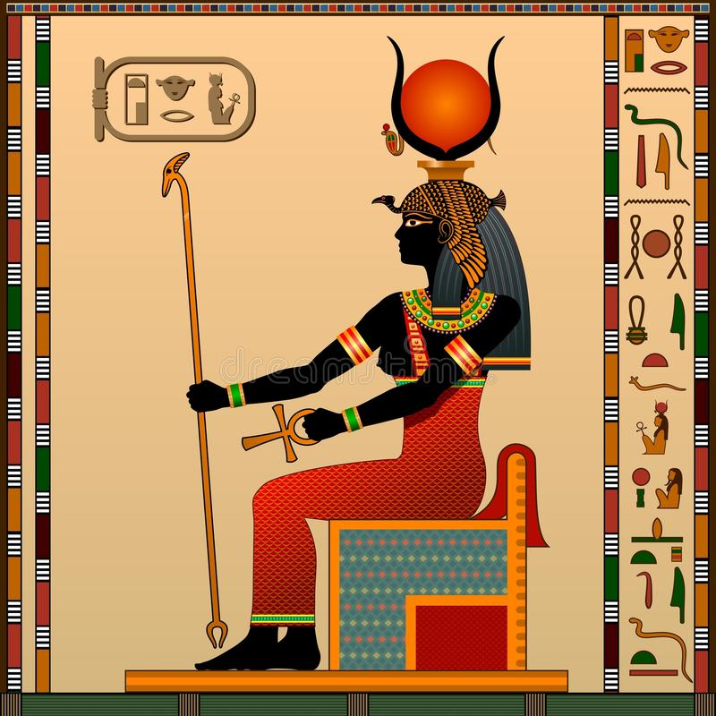 Religione dell'egitto antico illustrazione vettoriale
