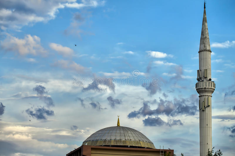 Religione di simbolo di Islam della costruzione della moschea immagini stock libere da diritti